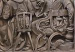 Nürnberg. St. Sebald: Volckamer-Epitaph, Detail Abendmahl (Veit Stoß, 1499)