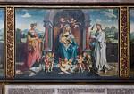 Nürnberg. St. Sebald: Tucher-Epitaph Mitte: Muttergottes, Katharina, Barbara