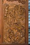 Rothenburg. St. Jakob, Heiligblutaltar, re. Flügel: Ölberg