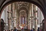 Würzburg. Marienkapelle: Längsschiff nach Osten