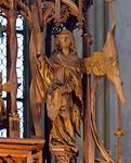 Rothenburg. St. Jakob, Heiligblutaltar, Verkündigungsengel