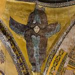 Istanbul, Hagia Sophia: nordöstl. Seraphm (oder Cherubim) (14. Jh.)