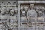 Istanbul, Obelisk im Hippodrom: Südostseite, Detail Kaiser Theodosius