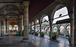 Istanbul, Rüstem Pascha: Blick aus Vorhalle auf Terrasse