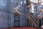 Istanbul, Rüstem Pascha: Mihrab (Gebetsnische) und Mimbar (Kanzel)