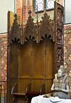 Güstrow, Dom. Levitenstuhl im Chor (um 1430)