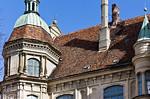 Güstrow. Schloss. Westfassade, nördl. Turm