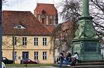 Güstrow. Blick vom Schloss Richtung Dom