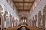 Gandersheim. Stiftskirche: Längsschiff nach Osten