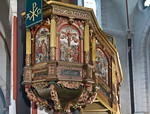 Goslar. Marktkirche Cosmas und Damian: Kanzel (H. Seek, 1581)