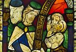 Goslar. Marktkirche Cosmas und Damian, Fenster 1, Detail: Menschen und Tiere werden geheilt