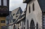 Goslar. Fassade des ehem Spitals Großes Hl. Kreuz