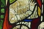 Goslar. Marktkirche Cosmas und Damian, Fenster 2, Detail: Verhör durch Statthalter Lysias