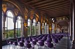 Goslar. Blick durch Saalbau nach außen