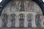 Goslar. Domvorhalle, Relieffiguren aus Stuck