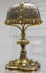 Gründungsreliquiar des Bistums Hildesheim (Silber: 9. Jh., Bänder: 13.Jh.) (Dommuseum Hildesheim, z.Zt. im Roemer-Pelizaeus-Museum)