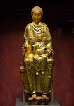 Goldene Madonna, Goldblech, Köpfe neu (um 1010) [Dommuseum Hildesheim, bis 9/2012 Bodemuseum Berlin]