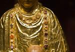 Goldene Madonna, Goldblech, Detail (um 1010) [Dommuseum Hildesheim]