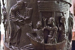 Hildesheim, St. Michael, Bernwardsäule: Jesus beruft weitere Jünger