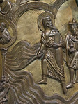 Taufbecken aus Hildesheimer Dom: Zug durchs Rote Meer, Moses