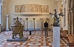 Taufbecken und Adlerpult aus dem Hildesheimer Dom im Romaniksaal des Bodesmuseums, Berlin (bis 4(2013)