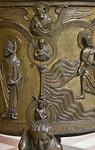 Taufbecken aus Hildesheimer Dom: Geon, Mäßigkeit, Jeremias, Evgl. Lukas