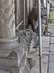 Königslutter, Dom: Portal des nördl. Seitenschiffs, erneuerte Löwen