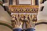 Freyburg, Schloss Neuenburg. Obere Burgkapelle, Kapitelle der mittl. Stütze