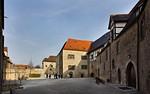 Freyburg, Schloss Neuenburg. Blick in Burghof nach Osten