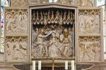Freyburg, Stadtkirche St. Marien, spätgotischer Schnitzaltar im Chor