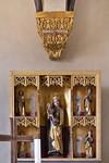 Freyburg, Schloss Neuenburg. Altar und Kämpfer