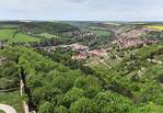 """Unstrut-Tal bei Freyburg vom Turm des """"Dicken Wilhelm"""" der Neuenburg"""