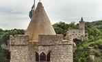 Blick vom Westturm der Burg Saaleck Richtung Rudelsburg
