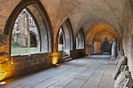 Halberstadt, Liebfrauenkirche. Kreuzgang, Ostflügel nach Norden