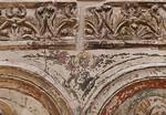 Halberstadt, Liebfrauenkirche. nördl. Chorschranke: Fries mit Akanthuspalmetten und Zwickel, Detail