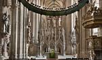 Halberstadt, Dom. Vierung mit Lettner und Triumphkreuz