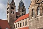 Halberstadt, Liebfrauenkirche. Westtürme von Südosten