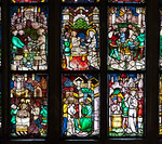 Halberstadt, Dom. Johannesfenster (Evgl., um 1420), Detail