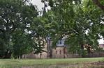 Hamersleben, St. Pankratius von Südosten durch Bäume