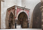 Hamersleben, St. Pankratius. Altarziborium in Südostecke des südl. Kreuzflügels (frühes 13.Jh.)