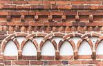 Jerichow, Stiftskirche: Nordseite, Fries an Längsschiff