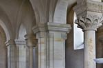 Landsberg/Saale, Doppelkapelle. Obere Kapelle, Kapitelle der nödlichen Arkaden