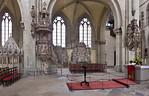 Magdeburg, Dom. Heiliggrabkapelle. Kanzel, Epitaphien und Katharinenaltar