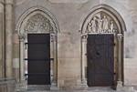 Magdeburg, Dom. Portale im südlichen Chorumgang mit Magdalenentympanon