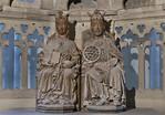 Magdeburg, Dom. Herrscherpaar in 16-eckiger Kapelle (um 1250)
