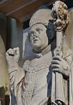 Magdeburg, Dom. Grabstein von Erzbischof Albrecht von Querfurt, Detail (gest. 1403)