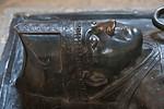 Magdeburg, Dom. Grabplatte Fr. von Wettin, Kopf