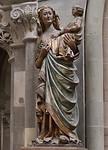 """Magdeburg, Dom. """"Schwarze"""" Madonna im Südkreuzarm (um 1270), neue Fassung"""