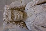 Merseburg, Dom, Vorhalle, Grabstein des Ritters Hermann von Hagen, Naumburger Meister (Mitte 13. Jh.)