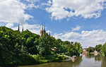 Merseburg, Blick auf Dom und Schloss von Süden
